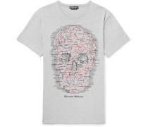 Oversized Printed Mélange Cotton-jersey T-shirt