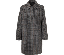 Lance Double-breasted Checked Wool-blend Tweed Coat - Gray