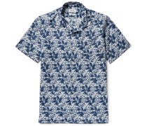 Slam Camp-collar Printed Cotton Shirt