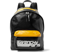 Logo-print Leather Backpack - Black