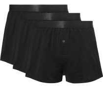 Three-Pack Cotton-Jersey Boxer Shorts