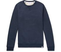 Ketel Mélange Fleece-back Cotton-jersey Sweatshirt - Navy