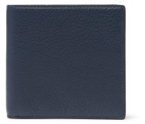 Burlington Full-grain Leather Billfold Wallet - Navy