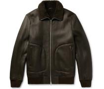 Salta Eli Shearling Jacket - Dark green