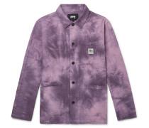 Tie-Dyed Cotton-Seersucker Chore Jacket