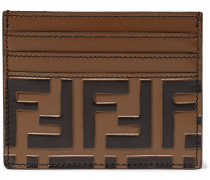 Logo-embossed Leather Cardholder - Brown
