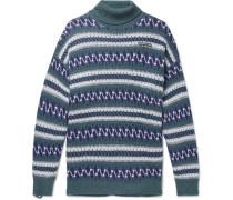 Oversized Fair Isle Wool-blend Rollneck Sweater