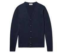 Petworth Merino Wool Cardigan - Midnight blue
