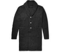 Shawl-collar Alpaca-blend Cardigan
