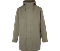 Cotton-canvas Hooded Parka