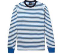 Striped Loopback Cotton-jersey Sweatshirt