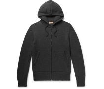 Cashmere Zip-up Hoodie - Charcoal