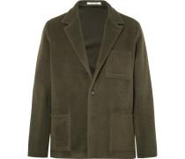 Unstructured Fleece Wool And Mohair-blend Blazer