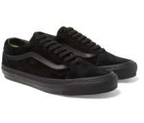 Og Old Skool Lx Leather-trimmed Suede Sneakers - Black