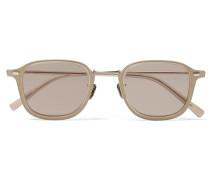 Square-Frame Acetate and Gold-Tone Titanium Sunglasses