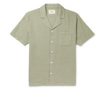 + Goss Brothers Orpheus Camp-Collar Printed Linen and Cotton-Blend Shirt