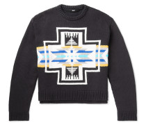Cotton-Blend Jacquard Sweater