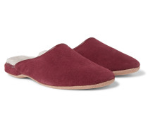 Douglas Shearling-Lined Suede Slippers