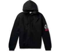 Logo-Appliquéd Fleece-Back Cotton-Jersey Zip-Up Hoodie