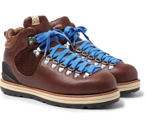 Serra Shell Cordovan Leather Boots - Dark brown