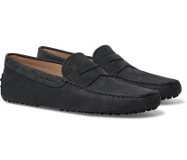 Gommino Suede Driving Shoes - Midnight blue