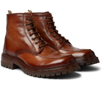 Manchester Burnished-Leather Boots