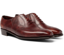 Anthony Churchill Leather Oxford Brogues - Brown