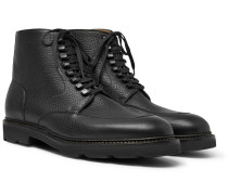 Helston Pebble-grain Leather Boots