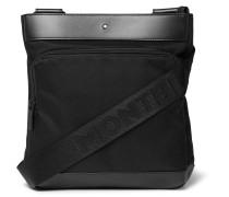 Nightflight Leather-Trimmed Canvas Messenger Bag
