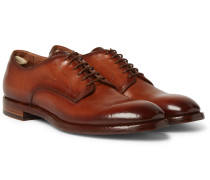 Emory Leather Derby Shoes - Brown