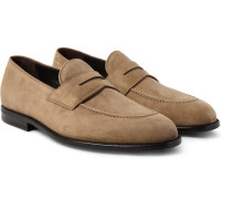 Samuel Suede Penny Loafers