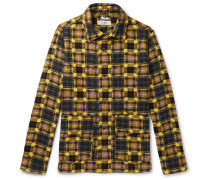 Checked Cotton-Flannel Chore Jacket