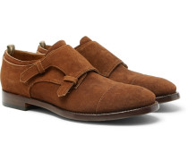 Princeton Suede Monk-strap Shoes