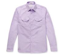 Stretch-Cotton Corduroy Overshirt