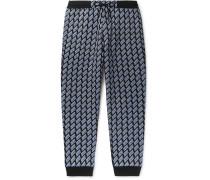 Logo-Print Loopback Cotton-Jersey Sweatpants