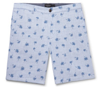 Maddox Slim-fit Printed Cotton Shorts