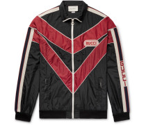 Appliquéd Striped Shell Jacket