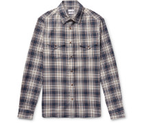 Checked Cotton Western Shirt
