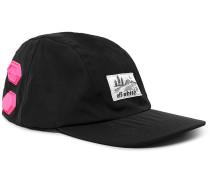 Logo-appliquéd Shell Baseball Cap - Black