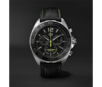 Formula 1 Limited Edition Aston Martin Quartz Chronograph 43mm Stainless Steel And Leather Watch - Black