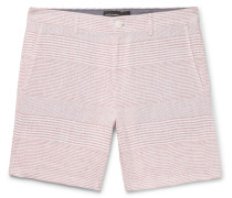 Baxter Slim-fit Striped Linen Shorts