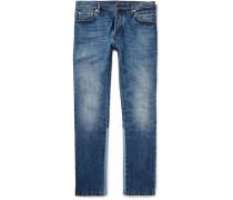 Slim-fit Panelled Stretch-denim Jeans