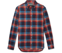 Button-down Collar Checked Cotton-twill Shirt - Multi