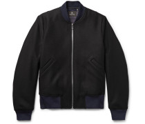 Wool-blend Twill Bomber Jacket