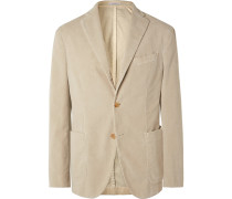 Sand K-Jacket Unstructured Cotton-Blend Corduroy Suit Jacket