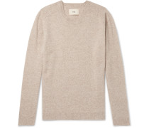 Patrice Pointelle-trimmed Mélange Wool Sweater - Neutral