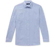 Slim-Fit Striped Linen Shirt