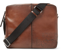 Monolithe Medium Leather Messenger Bag - Brown
