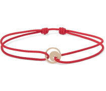Cord and Gold Bracelet