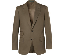 Eggsy's Olive Stretch-cotton Twill Suit Jacket